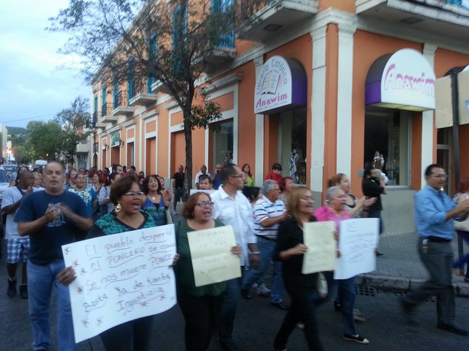 Marcha empleados municipales Ponce