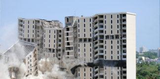 Derrumbe del residencial Gladiolas