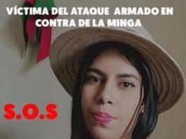 Daniela Soto, víctima del ataque armado en contra de la Minga