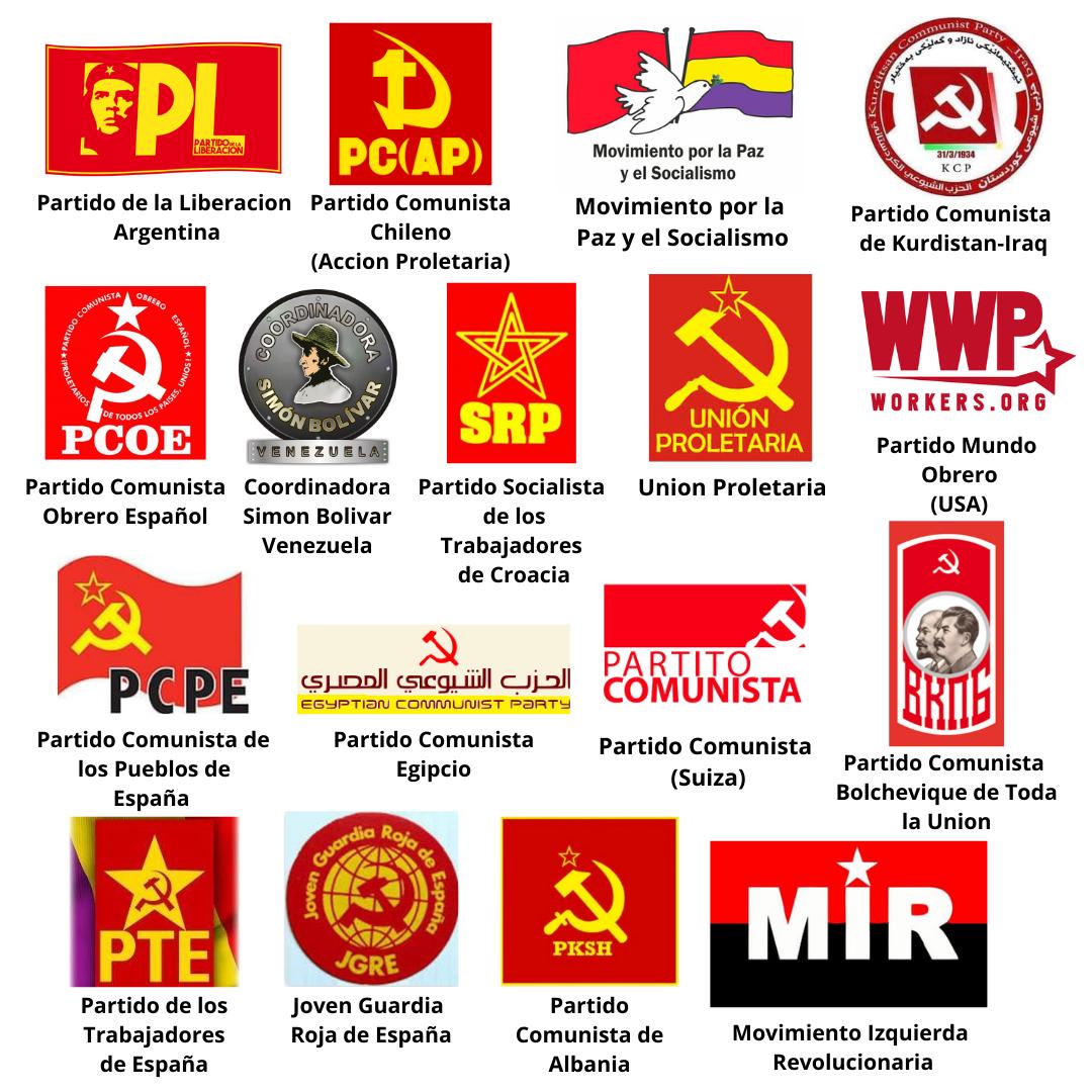 Logos de organizaciones en apoyo a la declaracion de apoyo a la rebelión colombiana 2