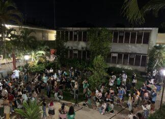 Foto del pleno de estudiantes del RUM el 12 de octubre del 2021.